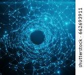abstract futuristic speed... | Shutterstock . vector #662693911