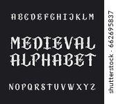 Old Medieval Alphabet Vector...