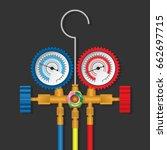 manifold gauge repair tool of... | Shutterstock .eps vector #662697715