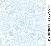 blue polar coordinate circular... | Shutterstock .eps vector #662697847