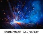 welding steel structures and... | Shutterstock . vector #662700139