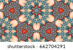 vector seamless pattern with... | Shutterstock .eps vector #662704291