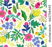 amazing floral stylish pattern... | Shutterstock . vector #662706445