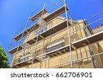 renovation of the facade of a... | Shutterstock . vector #662706901