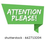 attention please badge. origami ... | Shutterstock .eps vector #662713204
