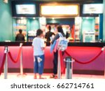 blur image of movie ticket box. | Shutterstock . vector #662714761
