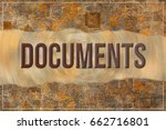 documents  business   finance... | Shutterstock . vector #662716801