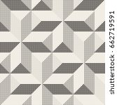 vector seamless geometric... | Shutterstock .eps vector #662719591