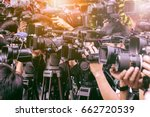 large number of press and... | Shutterstock . vector #662720539