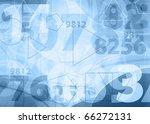 Light blue numbers design - stock photo