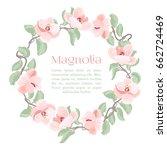 beautiful detailed magnolia... | Shutterstock .eps vector #662724469