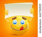 yellow smiley cartoon character ... | Shutterstock .eps vector #662730505