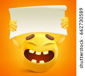 yellow smiley cartoon character ...   Shutterstock .eps vector #662730589