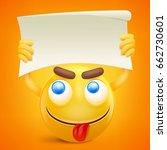 yellow smiley cartoon character ... | Shutterstock .eps vector #662730601