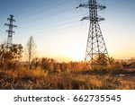 electric transmission lines in... | Shutterstock . vector #662735545
