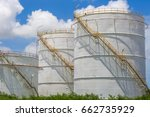 large oil tanks structure with...   Shutterstock . vector #662735929