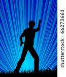 boy on field | Shutterstock .eps vector #66273661