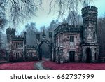 mystical old castle in a very... | Shutterstock . vector #662737999