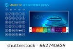 smart tv. set icons for smart... | Shutterstock .eps vector #662740639