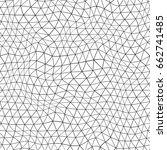 seamless geometric grid pattern.... | Shutterstock .eps vector #662741485