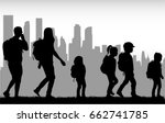 people travel on the city. | Shutterstock .eps vector #662741785