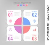 infographic template four steps ... | Shutterstock .eps vector #662744224