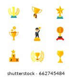 competition award icon set | Shutterstock .eps vector #662745484