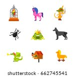 magical animals icon set | Shutterstock .eps vector #662745541