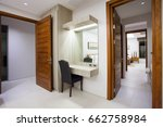 Small photo of hall way interior home, house , building , hotel , resort