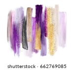 abstract watercolor brush... | Shutterstock . vector #662769085