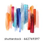 abstract watercolor brush... | Shutterstock . vector #662769397