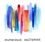 abstract watercolor brush... | Shutterstock . vector #662769445