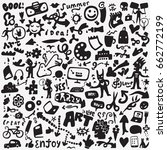 art tools doodles  | Shutterstock .eps vector #662772199