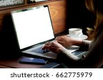 woman using laptop computer on... | Shutterstock . vector #662775979