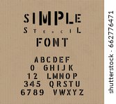 hand crafted modern font... | Shutterstock .eps vector #662776471