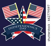 american independence day 4th... | Shutterstock .eps vector #662779597