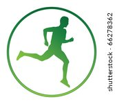 vector emblem with running... | Shutterstock .eps vector #66278362