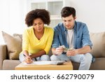 family budget  finances and... | Shutterstock . vector #662790079