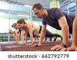 fitness  sport  exercising ... | Shutterstock . vector #662792779