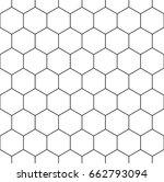 honeycomb wallpaper. repeated... | Shutterstock .eps vector #662793094