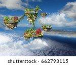 fantasy stone islands united of ...   Shutterstock . vector #662793115