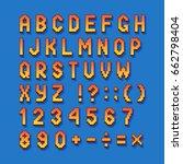 pixel retro font computer games ... | Shutterstock .eps vector #662798404