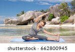 fitness  sport and people... | Shutterstock . vector #662800945