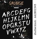 vector alphabet. handwritten... | Shutterstock .eps vector #662801545
