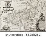 old map of sicily. the original ... | Shutterstock . vector #66280252