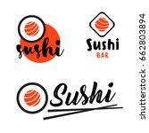 sushi logo template for... | Shutterstock .eps vector #662803894