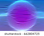 neon lines background with... | Shutterstock .eps vector #662804725