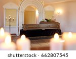 funeral and mourning concept  ...   Shutterstock . vector #662807545
