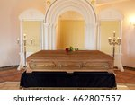 funeral and mourning concept  ... | Shutterstock . vector #662807557