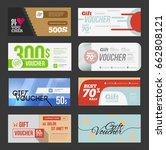 big voucher discount template... | Shutterstock .eps vector #662808121